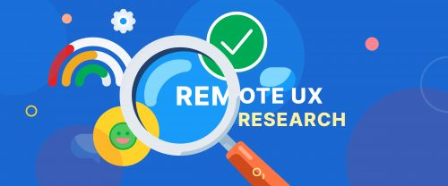 A colourful header with the text Remote UX Research