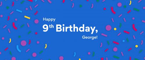 Image saying Happy 9th Birthday George